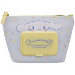 Japan Sanrio Wet Wipe Pocket Pouch - Cinnamoroll / Flowers
