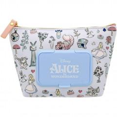 Japan Disney Wet Wipe Pocket Pouch - Alice in Wonderland