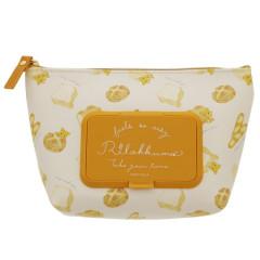 Japan San-X Wet Wipe Pocket Pouch - Rilakkuma / Bread